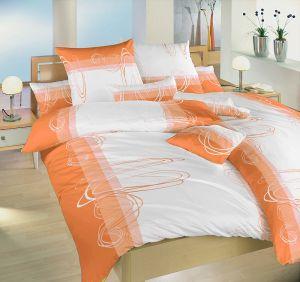 Bavlněné povlečení Smyčky oranžové