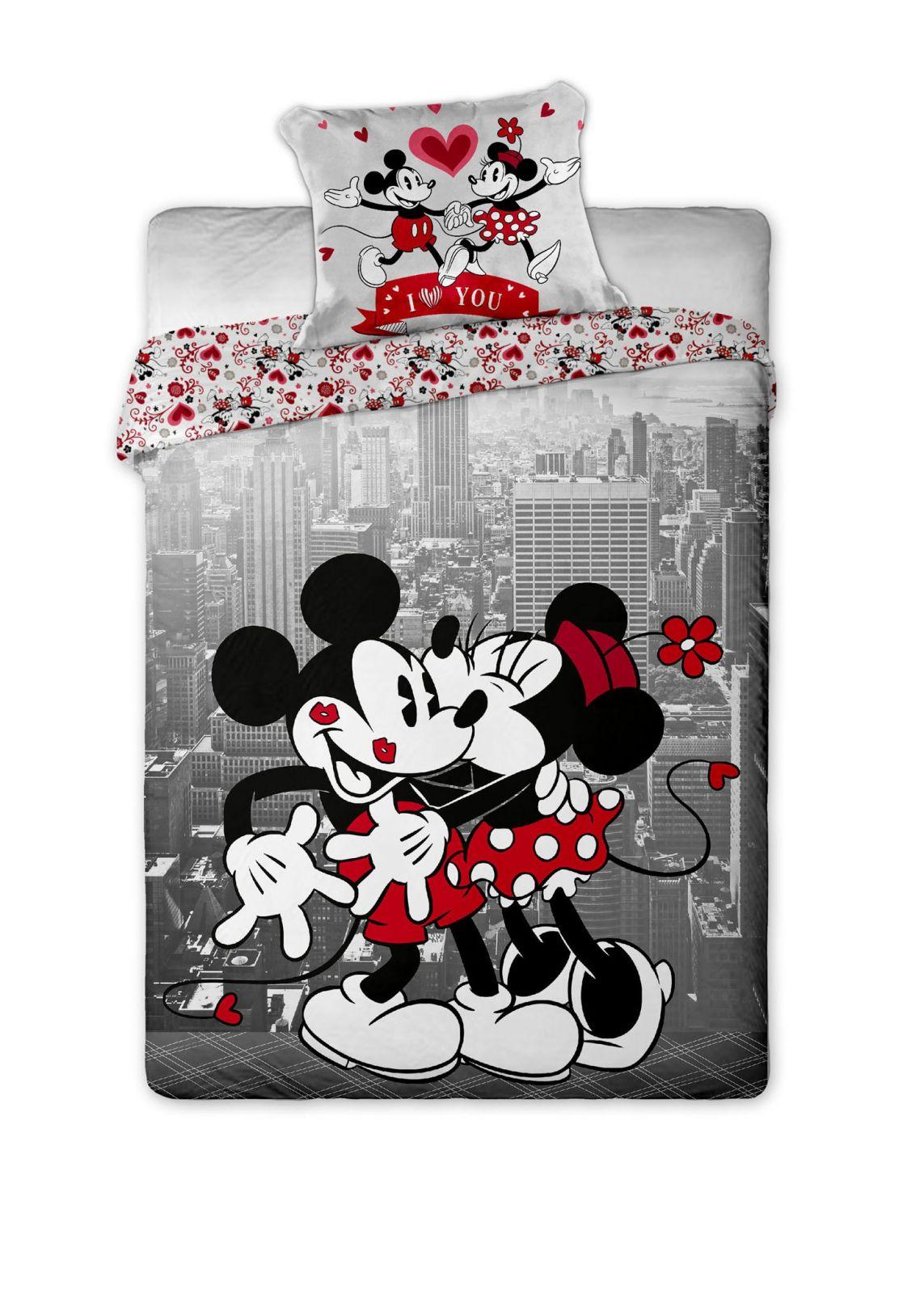 Dětské bavlněné ložní povlečení Mickey and Minnie v NY