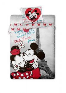 Bavlněné povlečení Mickey and Minnie v Paříži