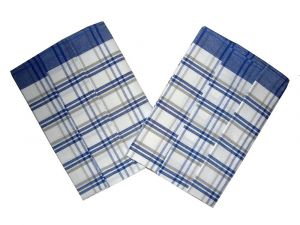Utěrka z egyptské bavlny 50x70 Káro modrošedé 3 ks