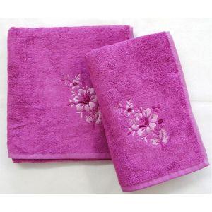 ručník Paloma cyklaménový, rozměr 50x100 cm.