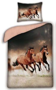 Bavlněné povlečení - Koně Savana