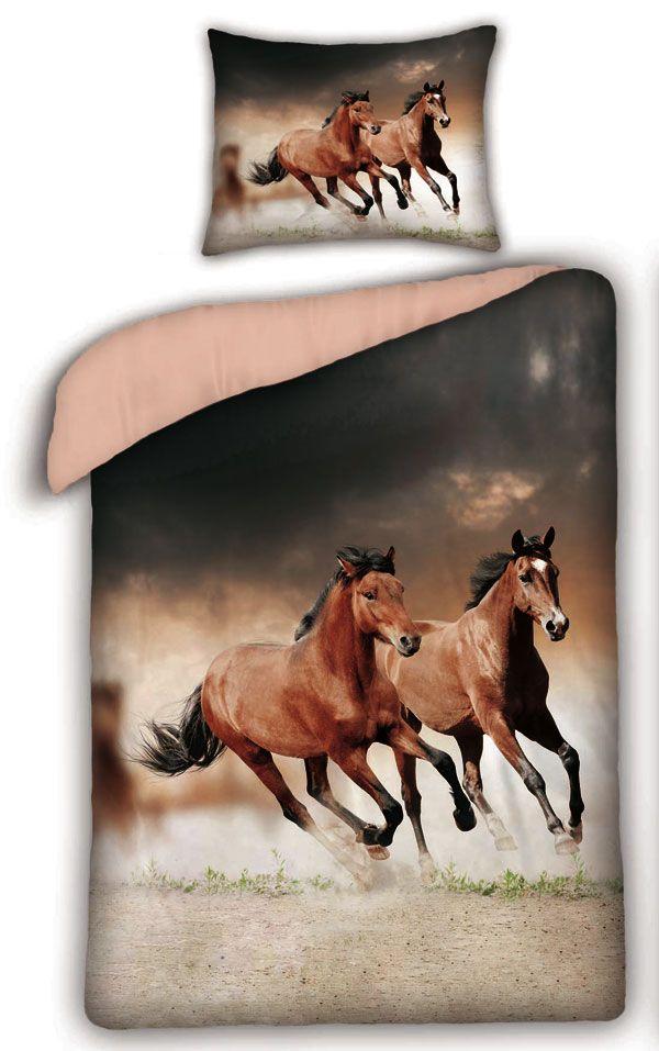 Bavlněné povlečení - Koně Savana 1x 140/200, 1x 90/70