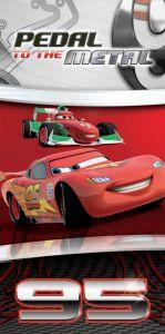 Motiv sportovních aut na dětské plážové osušce Cars silver, Jerry Fabrics