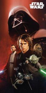 Dětská plážová osuška se seriálovými postavami - Star Wars 01, Jerry Fabrics