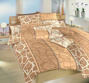 Mozaikový motiv na krásném krepovém ložním povlečení Teraso béžové, Dadka