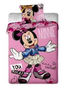 Postava myšky na dětském bavlněném ložním povlečení Disney - Minnie cool Jerry Fabrics