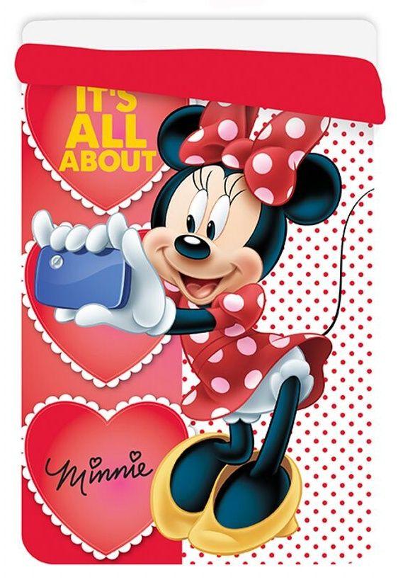 Oboustranná kvalitní dětská prošívaná deka (přikrývka) Minnie, Jerry Fabrics