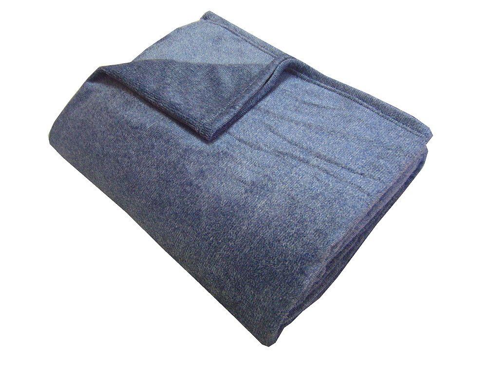 Fine soft deka Dadka modrý melír