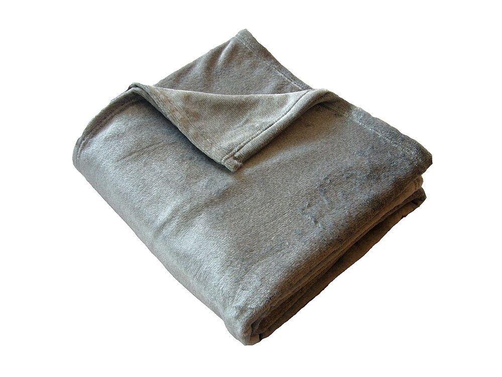 Fine soft deka Dadka šedý melír