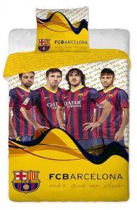 Bavlněné povlečení FC Barcelona players yellow