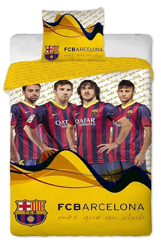 Bavlněné povlečení FC Barcelona players yellow 1x 140/200, 1x 90/70