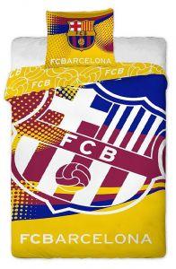 Bavlněné povlečení FC Barcelona znak yellow