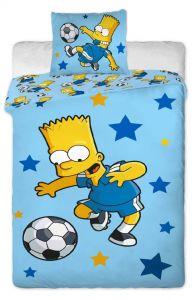 Oboustranné dětské bavlněné ložní povlečení Simpsons Bart blue, Jerry Fabrics