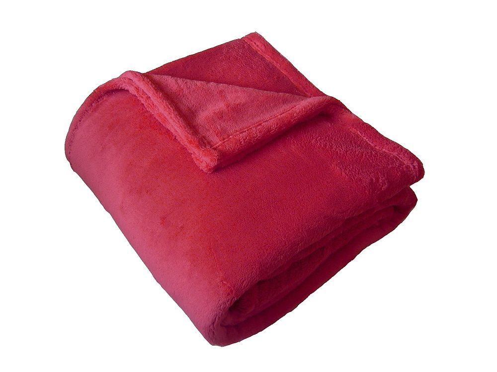 Super soft deka Dadka světle červená