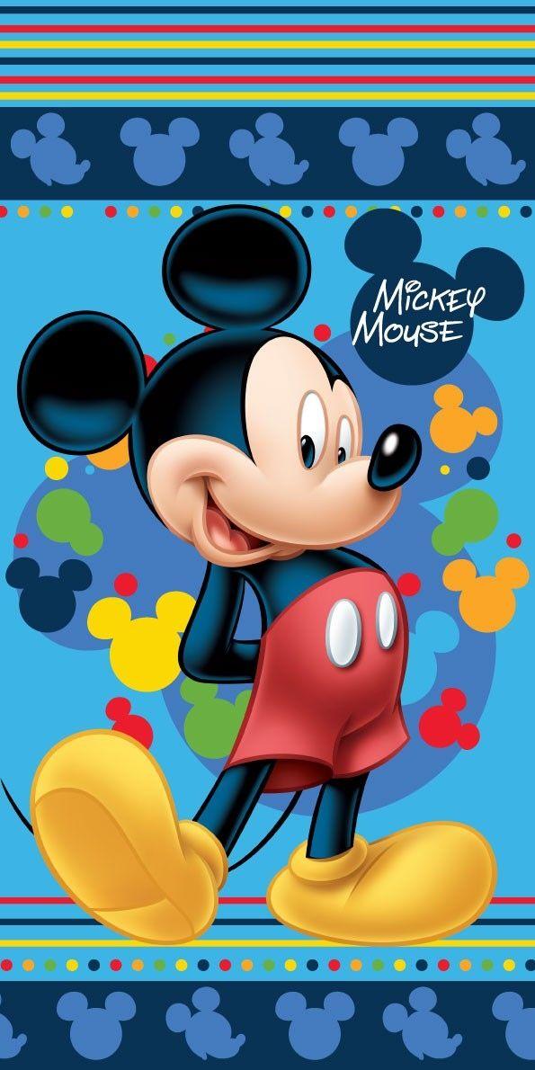 Osuška Mickey blue 2 70x140 cm rozměr 70x140 cm.