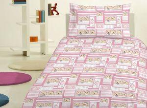 Dětské bavlněné ložní povlečení na velkou postel Medvídek růžový, Jerry Fabrics