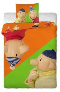 Nerozluční kutilové na kvalitním dětském bavlněném ložním povlečení Pat a Mat orange, Jerry Fabrics