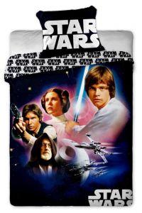 Postavy z televizního seriálu Hvězdných válek bavlněném ložním povlečení Star Wars 01 Jerry Fabrics