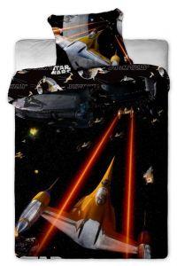 Kosmické lodě na pěkném dětském bavlněném ložním povlečení Star Wars spaceships Jerry Fabrics