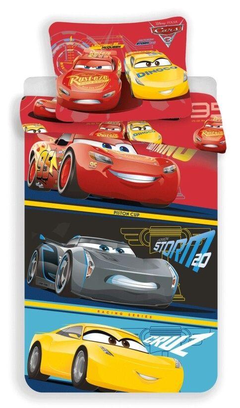 Bavlněné povlečení Cars 3 1x 140/200, 1x 90/70