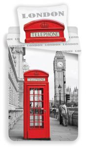 Bavlněné povlečení fototisk London Telephone