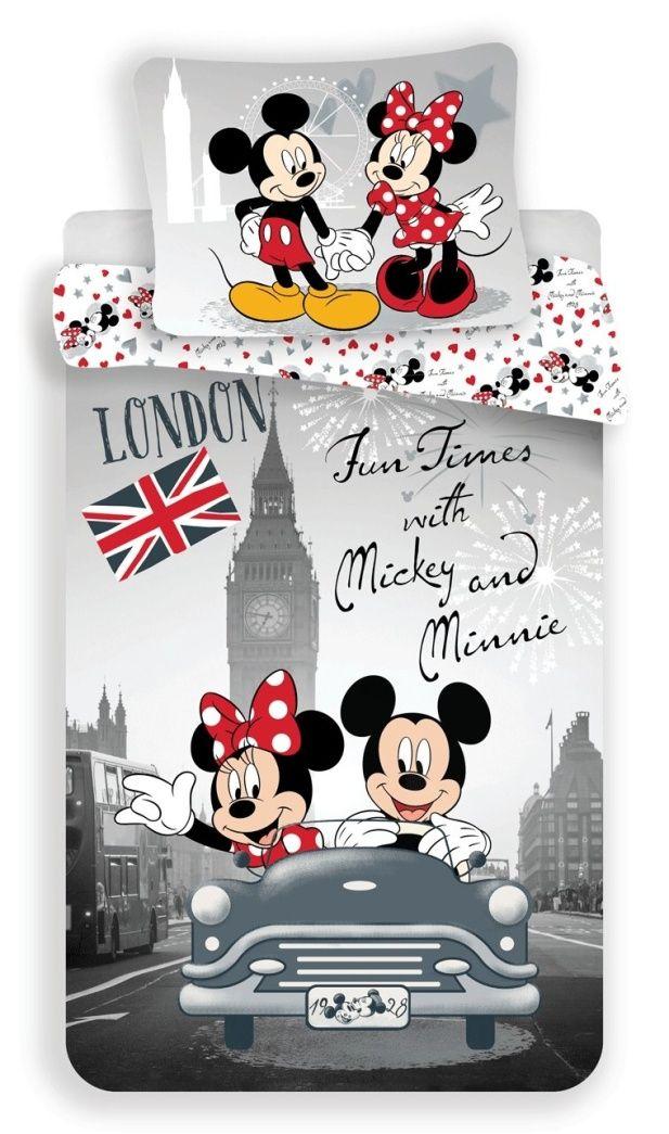 Bavlněné povlečení Mickey and Minnie in London