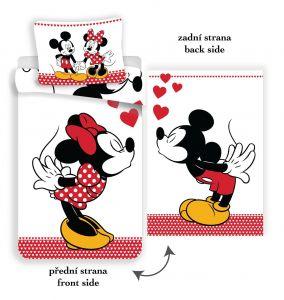 Bavlněné povlečení Mickey and Minnie in love
