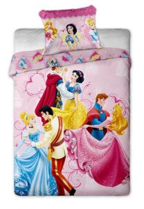 Oboustranné dětské bavlněné ložní povlečení Disney - Princezny dancing, Jerry Fabrics