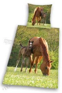 Bavlněné povlečení Koně na pastvě