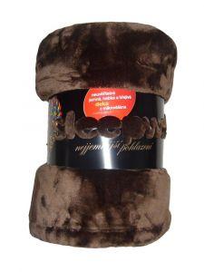 Mikroflanelová deka Exclusive tmavě hnědá