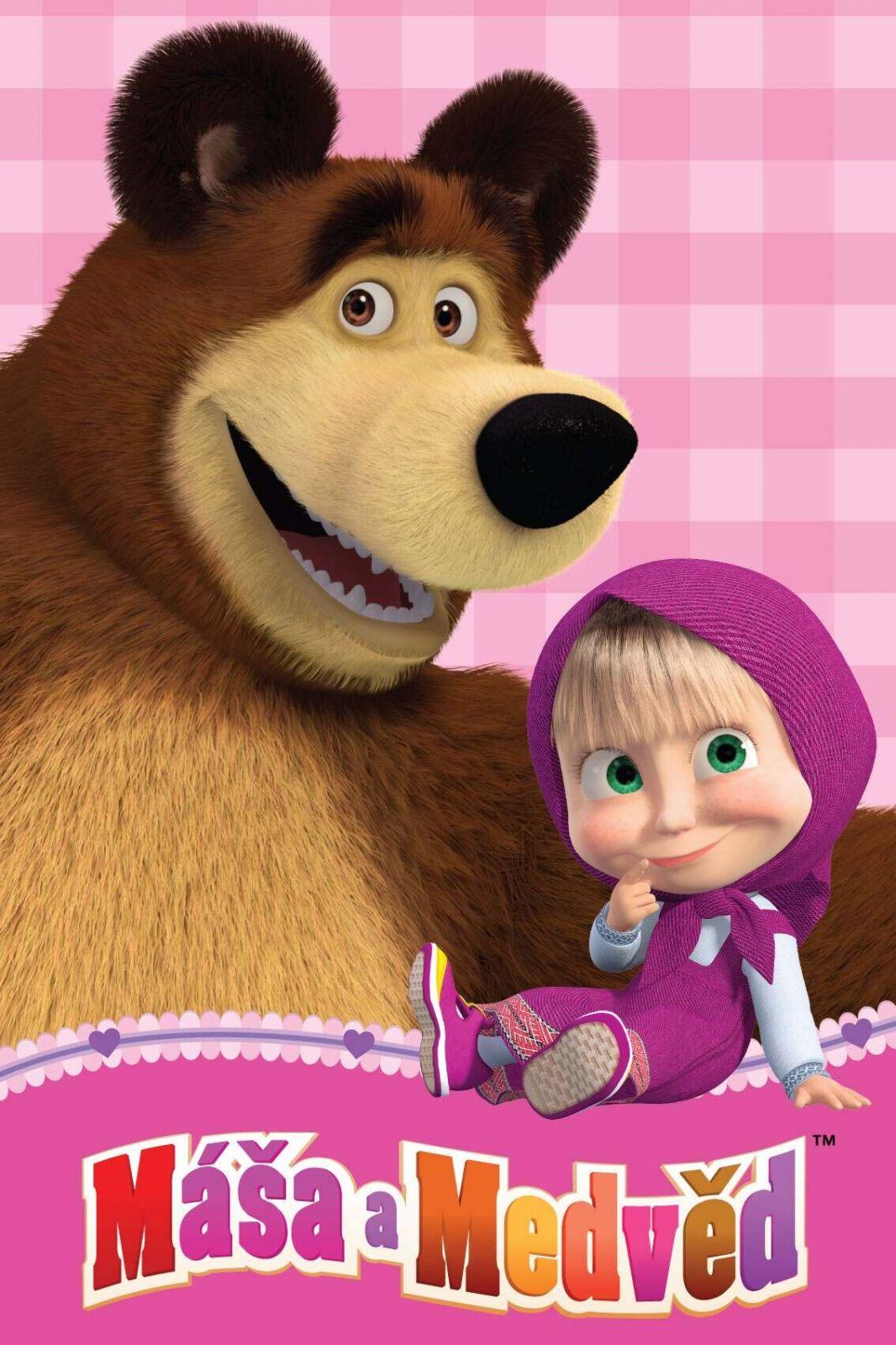 Dětská fleecová deka Máša a medvěd