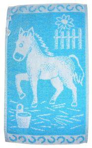 Dětský ručník - Koník tyrkysový