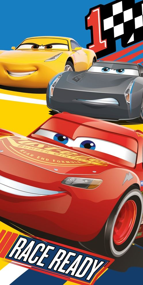 """Dětská bavlněná plážová osuška Cars 3 """"Race ready"""" , Jerry Fabrics"""