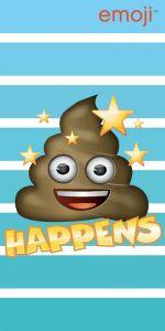 "Osuška Emoji ""Happens"" 70x140 cm"