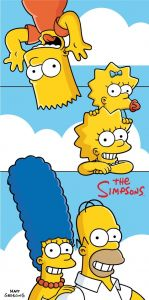 "Osuška Simpsons family ""Clouds"" 70x140 cm"