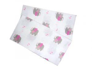 Kvalitní a praktická dětská látková plena Slon růžový (balení 5 ks) PREM INTERNACIONAL