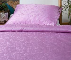 Damaškové ložní povlečení laděno do fialové barvy Bohema Luční květy fialové, Dadka