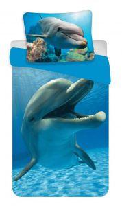 Bavlněné povlečení Fototisk Delfín
