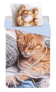 Povlečení fototisk Kočka klubíčko
