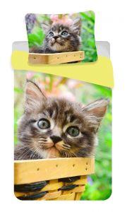 Bavlněné povlečení fototisk Kočka mourek