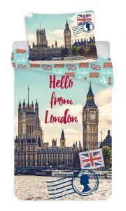 """Bavlněné povlečení fototisk London """"Hello"""""""