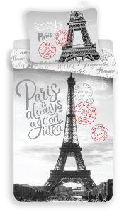 """Bavlněné povlečení Fototisk Paris """"GOOD IDEA"""""""