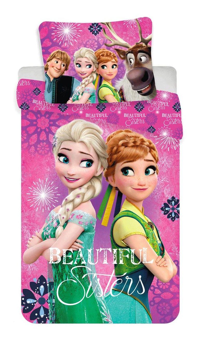 Dětské bavlněné ložní povlečení Frozen beautiful sisters