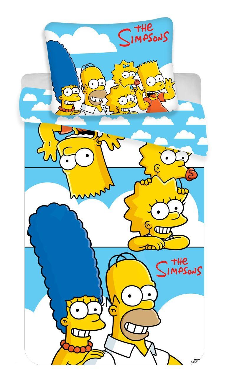 """Dětské bavlněné ložní povlečení Simpsons Family """"Clouds"""""""