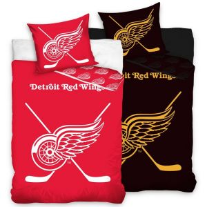 Hokejové povlečení NHL Detroit Red Wings náhled fosforeskující vrtstva