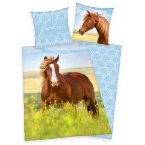 Bavlněné povlečení Kůň, freedom