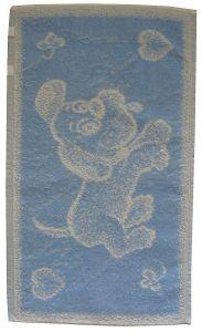 Dětský froté ručník - Pejsek světle modrý, Frotex