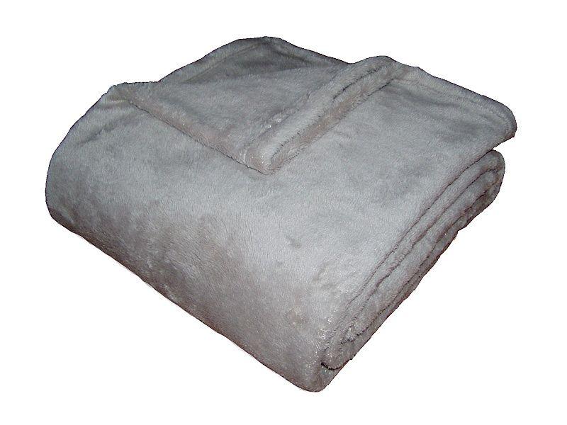 Fine soft deka Dadka světle šedá