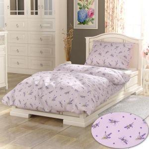 PROVENCE COLLECTION Lavender fialová bavlněné povlečení